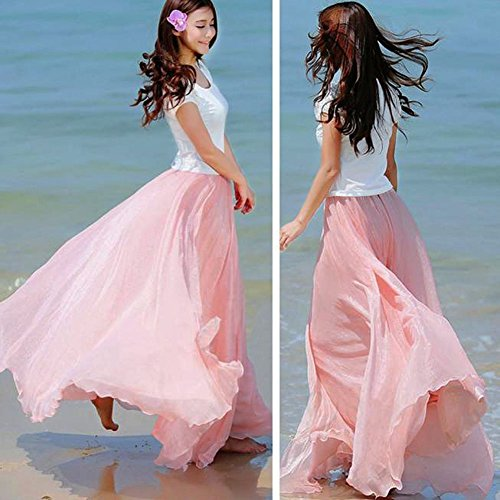 Longue Tissu Mode Couches De La LULIKA Doux Maxi Girl Extensible Beach Rose Jupe Taille Femmes Pretty Adulte Robe Robe Tulle Femme Lastique Lastiques wgIH0zIq