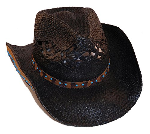 Peter Grimm Jarales Faux Snakeskin Hat Band Drifter (One Size, Black)