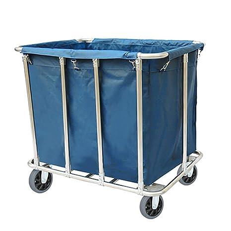 Amazon.com: Carrito de lavandería resistente con bolsas ...