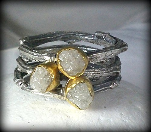 (Rough Diamond Stacking Rings)