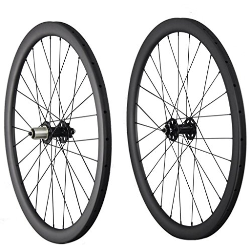 40mm Tubular Disc Brake Wheels Carbon 28 Holes Shimano 10/11 Speeds Quick Release 100x9mm 135x9mm (Tubular Cyclocross Wheel Set)