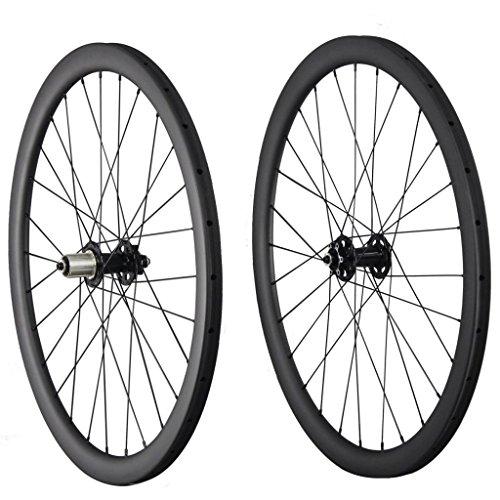 40mm Tubular Disc Brake Wheels Carbon 28 Holes Shimano 10/11 Speeds Quick Release 100x9mm 135x9mm (Tubular Cyclocross Wheel Set)