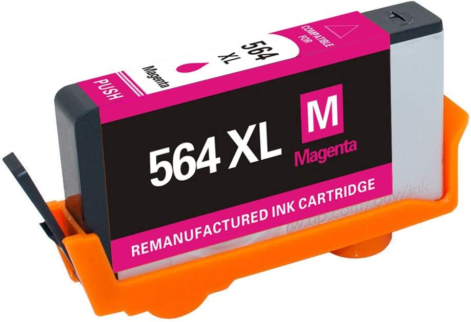 JinHan Compatible Ink Cartridge Replacement for HP 564XL 564 XL to use with Deskjet 3070A 3520 Officejet 4610 4620 4622 Photosmart 5510 5514 5520 6510 6510 6520 C6324 2BK /& 1C//M//Y 5 Pack Combo