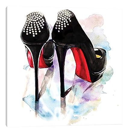 a410dc7032d2 Amazon.com  iCanvasART Christian Louboutin Classic Heels Canvas ...