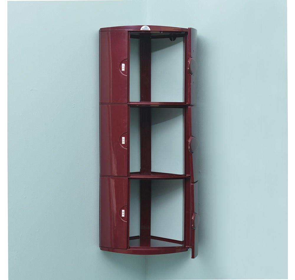 Nilkamal 3 Door Blooms Storage Cabinet , maroon: Amazon.in: Home ...
