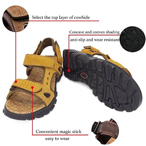 Randonnée Marche Decontracte Cuir Sketchers Homme Été Gelb Respirant Chaussures Sandale Plage Sport Hommes Air De FPTnqSXO