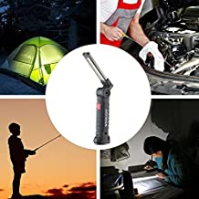 LED Flashlight,niceeshop(TM) Portable COB Flashlight Torch,Water Resistant USB Rechargeable LED Work Light Lamp with Adjustable 5 Light Modes for Outdoor Camping Hiking
