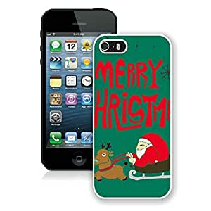 Personalized Hard Shell Iphone 5S Protective Cover Case Santa Claus iPhone 5 5S TPU Case 3 White