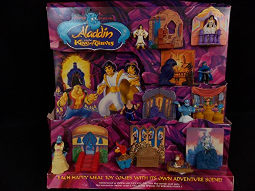 MCDONALD'S HAPPY MEAL ALADDIN and the KING of THIEVES Set of 8 Advertising Displace 1996, Part#1026, VERY RARE