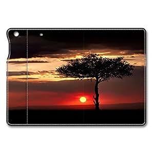 Brain114 iPad Mini Case - Fashion Design Leather iPad Mini Stand Case Cover Savannah Sunset Leather Folding Case Cover for iPad Air Mini