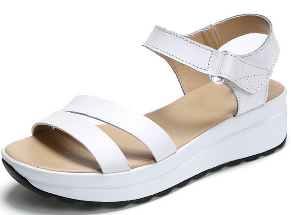 Sandales mince d été avec B06Y4DGQHT pente femme 14430 secoua sa chaussure était mince sandales femmes sandales occasionnels a augmenté femmes chaussures tête de poisson White 1625875 - latesttechnology.space