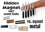 Heavy Duty Knife Holder, Walnut Wood Magnetic Knife Bar, Knife Block Storage Strip