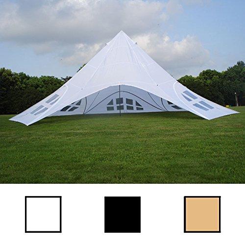 CLP Stabiles U0026 Hochwertiges Sternzelt Mit Seitenwänden Und 14 Meter  Durchmesser (überdachte Fläche Ca. 40 M²) Erleben Sie Die Neue  Zeltdimension Weiß ...