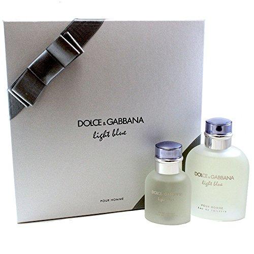 Dolce & Gabbana Light Blue Pour Homme 2 Piece Men's Gift (Gabbana Cologne Gift Set)