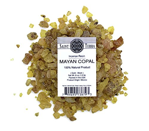 Saint Terra - Mayan Copal Resin Incense Gold-Black 8 oz (1/2lb) - 100% Natural