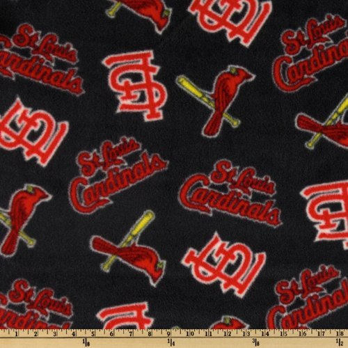 Fabric Traditions CW-797 MLB Fleece St. Louis Cardinals Toss Red/Blue Fabric by the Yard