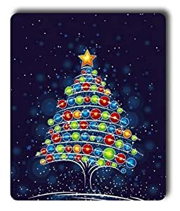 Lilyshouse Cartoon Christmas Tree Rectangle Mouse Pad