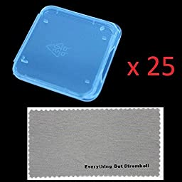 25 pcs SD MMC / SDHC / SDXC / PRO DUO Memory Card Plastic Storage Jewel Case (memory card not included) (1 3/8\