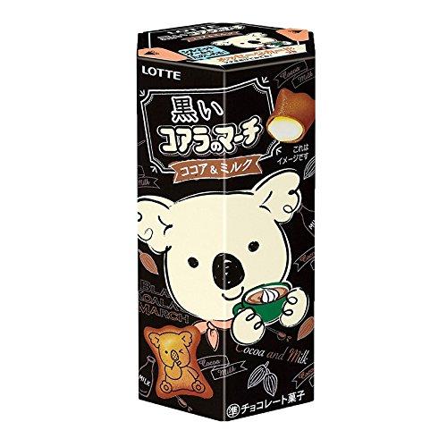 Chocolat de cacao et de lait de mars 48g de koala noir de saveur de biscuit de Dagashi japonais Lotte