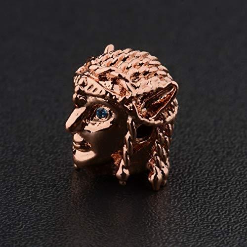 Hebel 8MM Turquoise Beads Cubic Zircornia Gemstones Avatar Charm Bracelet   Model BRCLT - 30733  ]()