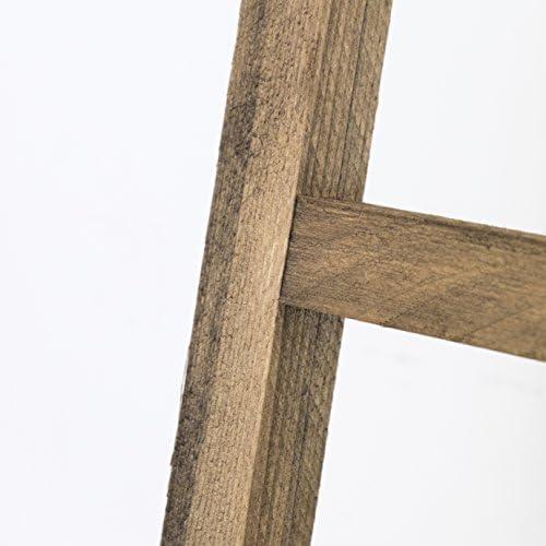 Decowood - Escalera de Madera Decorativa con 3 Peldaños, Madera Natural - 118x41 cm: Amazon.es: Bricolaje y herramientas
