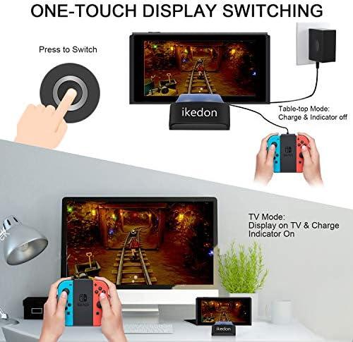 Switch Dock, ikedon estación de acoplamiento de TV portátil de repuesto para Nintendo Switch con puerto HDMI y USB 3.0: Amazon.es: Videojuegos