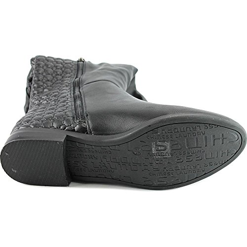 Chinese Laundry Mujeres Racer Black Microsuede