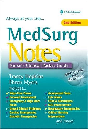 medsurg notes nurse s clinical pocket guide davis s notes rh amazon com Nurses Pocket Guide 12th Edition nurse's pocket guide diagnoses