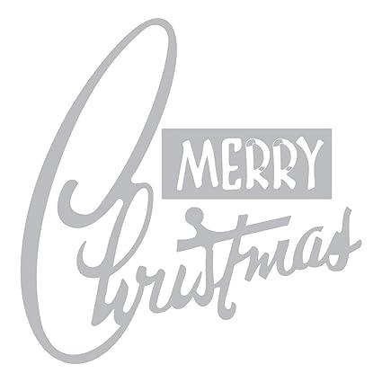 7433d67946f3 Amazon.com: Blue Stones Cutting Dies Merry Christmas Word Stencils ...