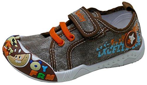 Gibra Zapatillas de Tela Para Niño marrón/naranja