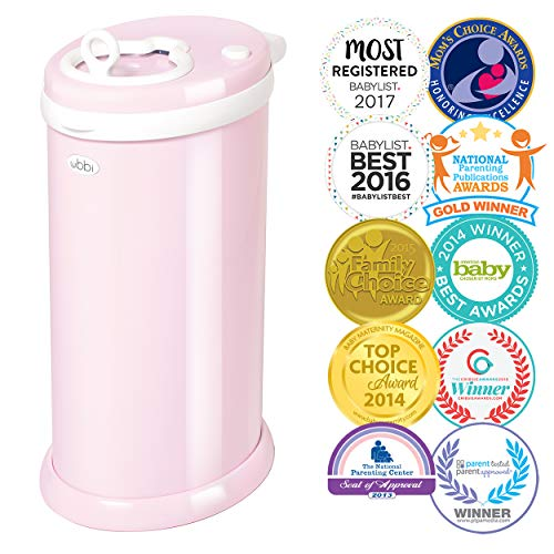 (Ubbi Steel Odor Locking, No Special Bag Required Money Saving, Awards-Winning, Modern Design, Registry Must-Have Diaper Pail,)