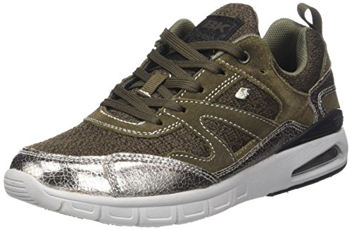 British Knights Damen Demon Flach, Schwarz/Schwarz, 41 EU Marron (Taupe/Bronze/Lt Grey)