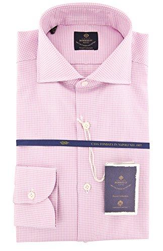 new-luigi-borrelli-pink-micro-houndstooth-extra-slim-shirt