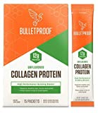 Bulletproof Collagen Protein GoPack, Unflavored, Keto-Friendly, Paleo, Grass-fed Collagen, Amino Acid Building Blocks for High Performance (15-Pack GoPack) (.46 oz per Pack)