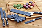 8-Piece Universal Knife Edge Guards are More Durable, BPA-Free, Gentle on Your Blades, and Long-Lasting. Noble Home & Chef Knife Covers Are Non-Toxic and Abrasion Resistant! (Knives Not Included)