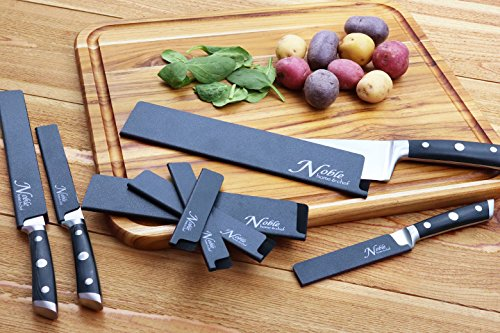 8-Piece Universal Knife Edge Guards are More Durable, BPA-Free, Gentle on Your Blades, and Long-Lasting. Noble Home & Chef Knife Covers Are Non-Toxic and Abrasion Resistant! (Knives Not Included) by Noble Home & Chef (Image #1)