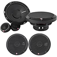 Rockford Fosgate P165-SI 240w 6.5 Car Component Speakers+6.5 Coaxials-Euro Fit
