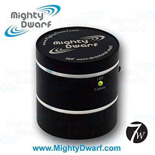 Mighty Dwarf Portable 7 Watt Vibration Speaker, Black