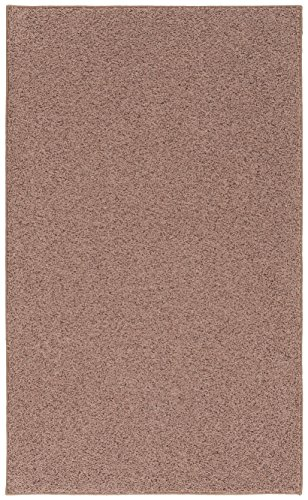 Room Accent Soft Area Rug, 4-Feet by 6-Feet, Cinnamon Brown - Area Accent