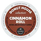 Donut House Collection Coffee, Cinnamon Roll, K-Cup Portion Pack for Keurig K-Cup Brewers, 24-Count