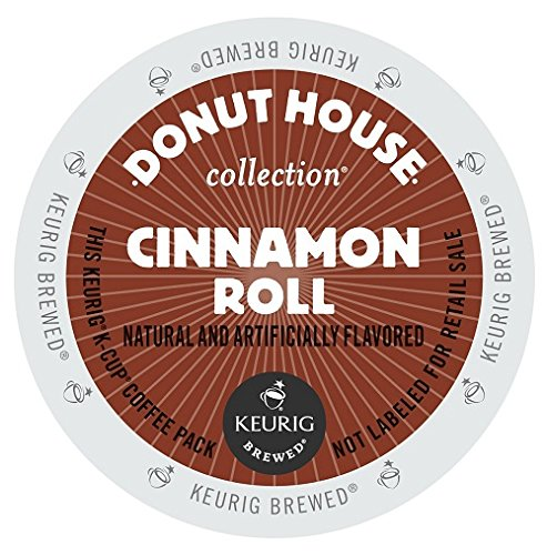 Donut House Collection Coffee, Cinnamon Roll, K-Cup Portion Count for Keurig K-Cup Brewers, 24-Count ()