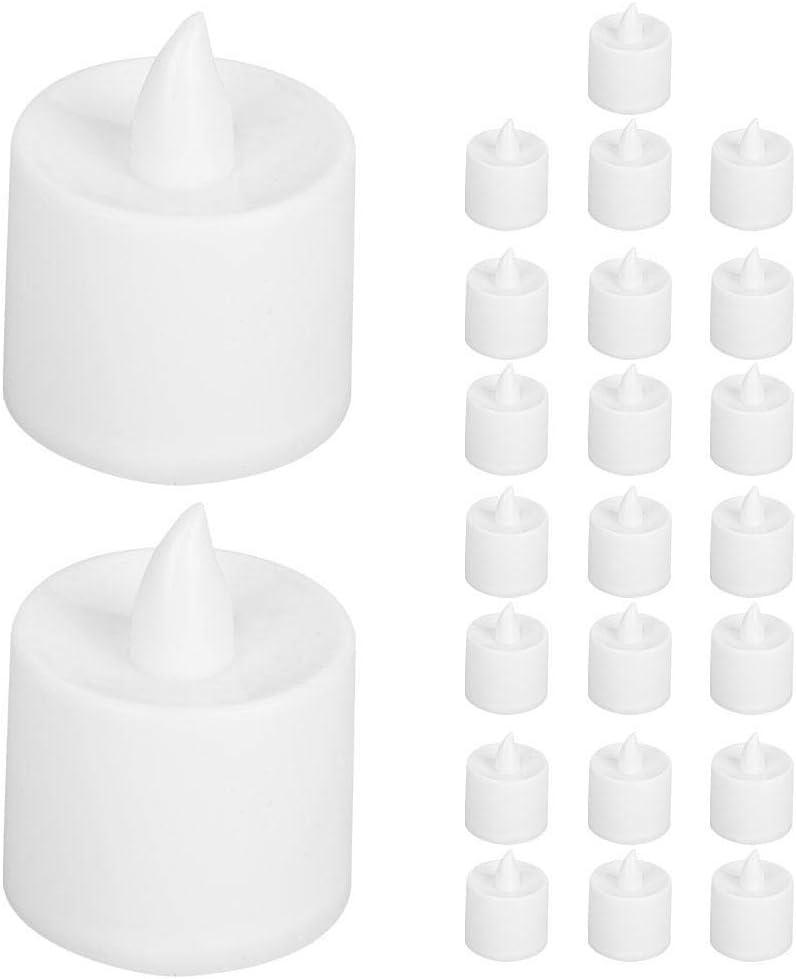 avec la Batterie 24 PCS Chaud Blanc Romantique chandelle pour la d/écoration de Mariage de caf/é de Barre Riuty Lumi/ères de th/é de LED