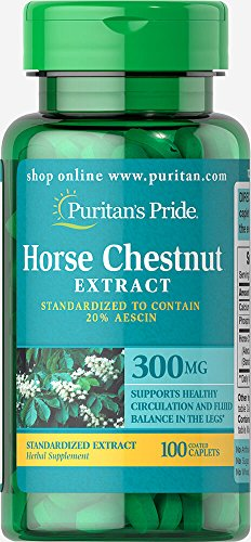 - Puritan's Pride Horse Chestnut Standardized Extract 300 mg-100 Caplets