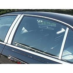 QAA fits 1998-2011 Lincoln Town Car (6 Piece Stainless Pillar Post Trim) PP38681