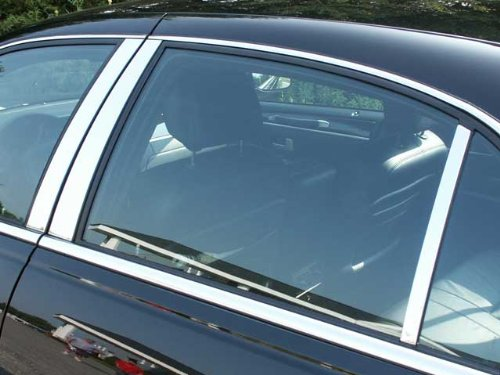 QAA FITS Town CAR 1998-2011 Lincoln (6 Pc: Stainless Steel Pillar Post Trim Kit, 4-Door) PP38681 ()