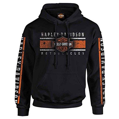 Harley-Davidson Pullover Hoodie - Billboard | Military Skull Text (Harley Hoodie)