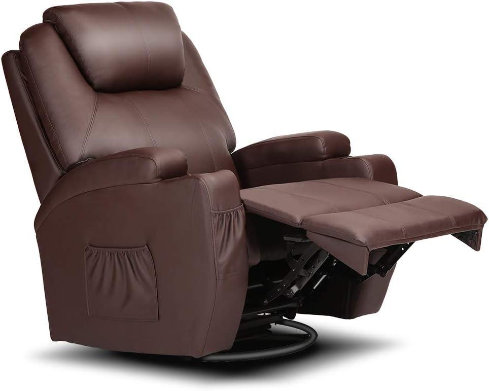 Apelila Electric Massage Chair Swivel Rocker Recliner