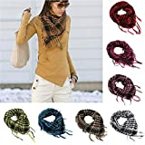 Fashion Scarfs for Women Hot Sale,DEATU Ladies Windproof Sandproof Warm Plaid Scarf Long Soft Wrap Scarf Shawl