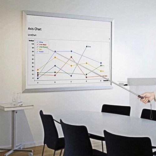 Extends to 47 Black Telescoping Teachers Pointer BonyTek Retractable Classroom Electronic Whiteboard Presentation Teaching Pointer Stick for Teachers Coach Presenter with A Lanyard /& Felt Nib