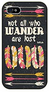 iPhone 5C Not all who wander are lost. Tolken - black plastic case / Keep Calm, Motivation and Inspiration